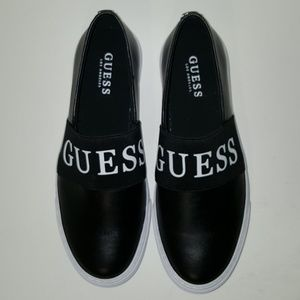 GUESS Faux Leather Slip-on Sneakers